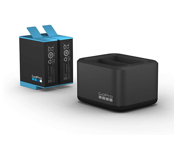 Dual Battery Charger + Battery (HERO9 Black)